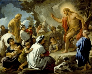 Saint John The Baptist Preaching, by Luca Giordano
